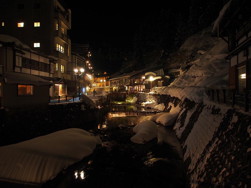 銀山温泉-夜のとばり